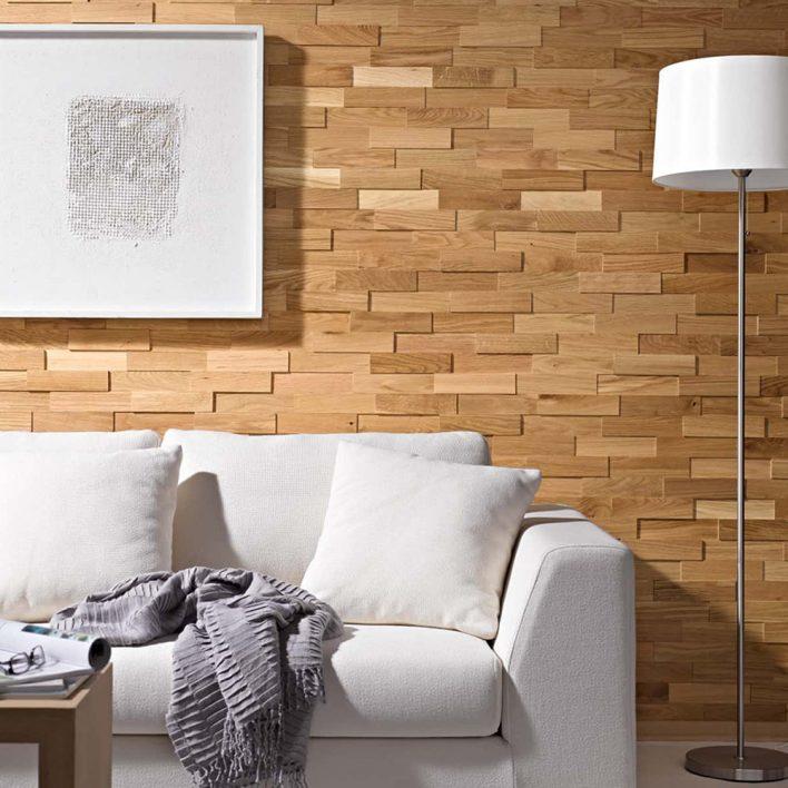 plaquettes de parement bois chêne huilé