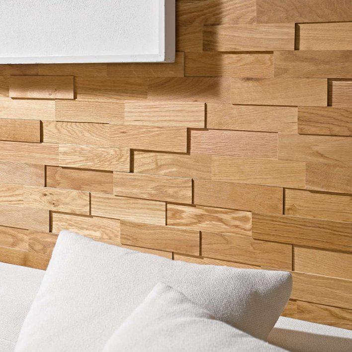 Plaquettes de parement bois en chêne huilé