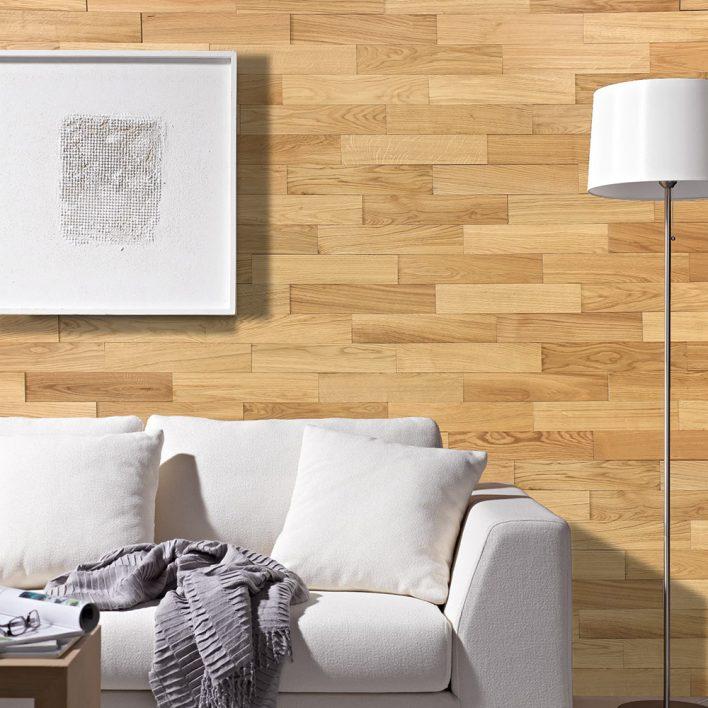Déco murale en bois chêne huilé