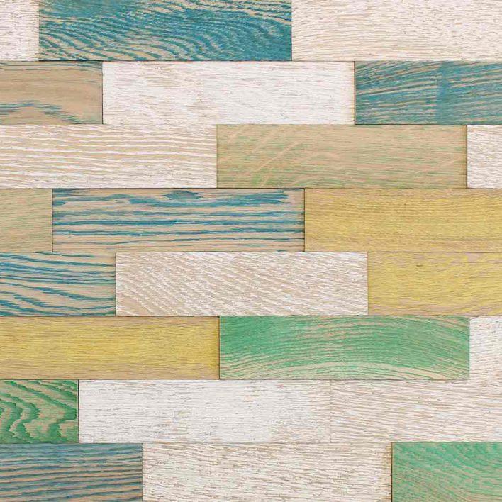 Lambris mural bois vintage Coloré