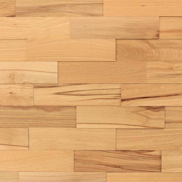 Mur en bois hêtre