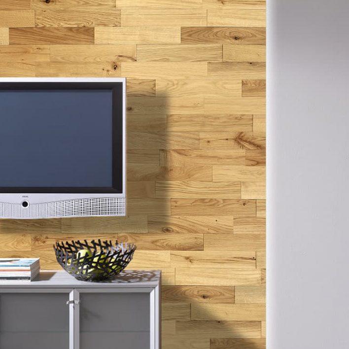 Mur tv bois chêne