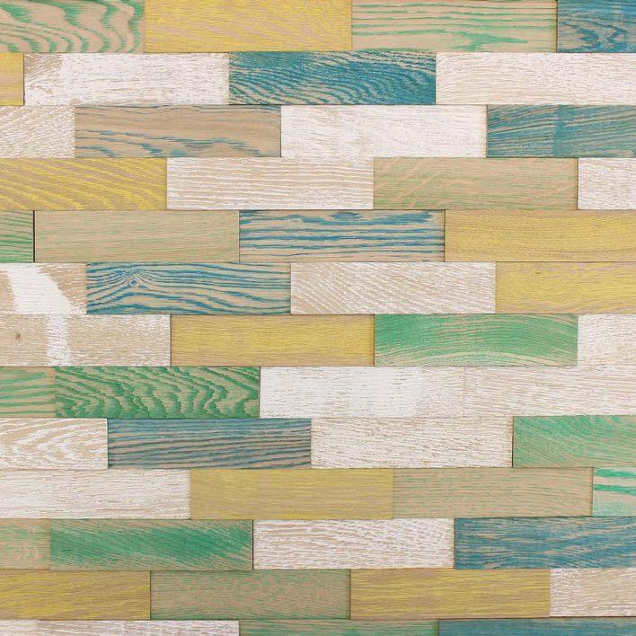 Panneau mural bois vintage coléré
