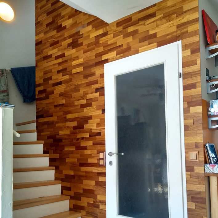 parement bois woodwall iroko