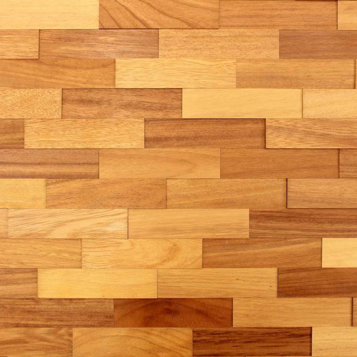 Parement mural bois iroko
