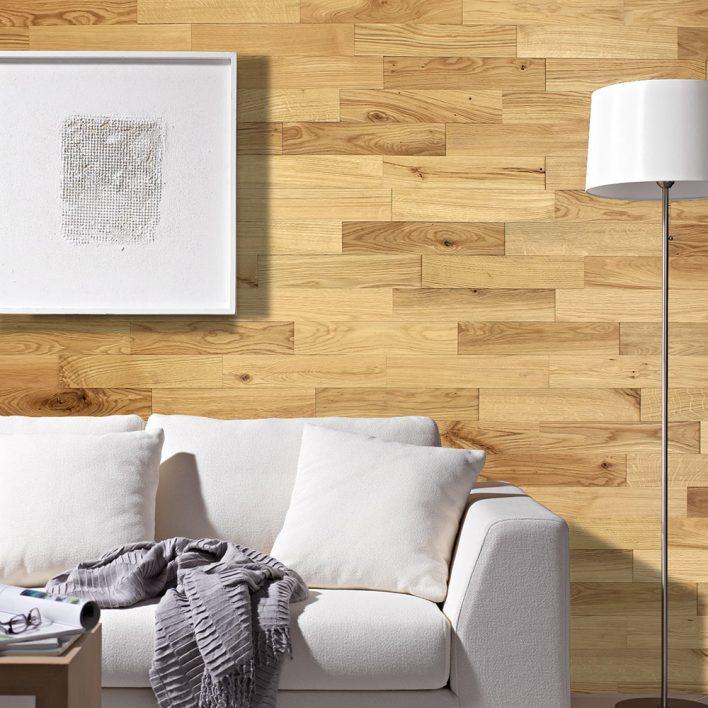 Revêtement mural bois chêne rustique huilé