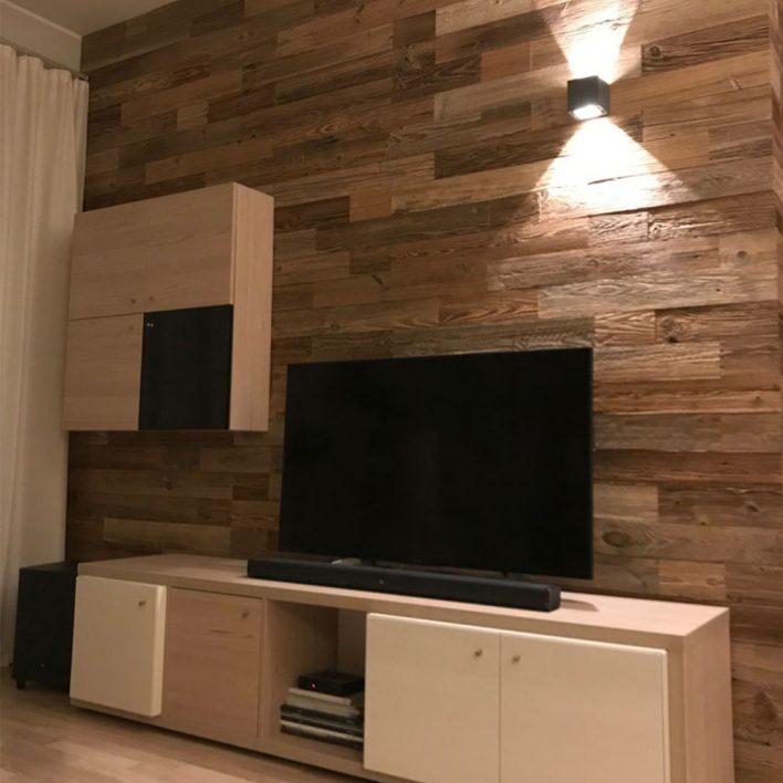 mur en bois nature
