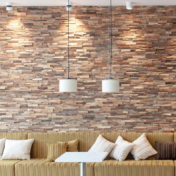 decoration murale bois massif