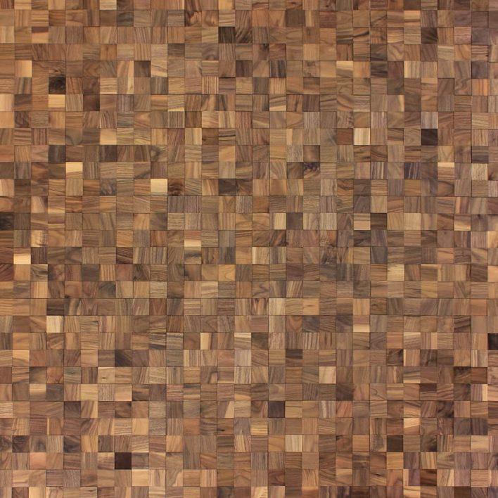 mur en bois adhésif noyer