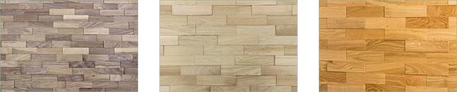 mur en plaquette de bois