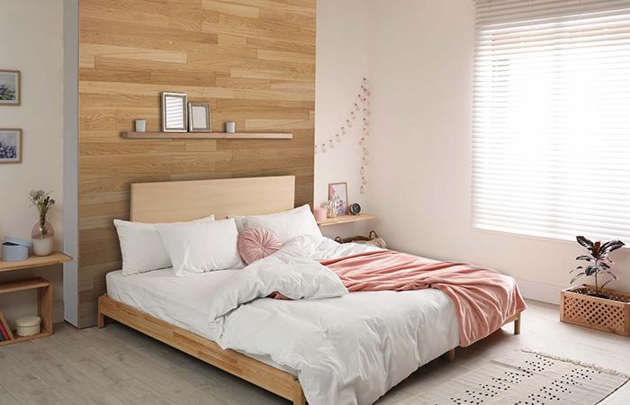 fabriquer une tete de lit en lambris