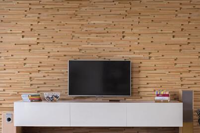 Mur TV en Bois Massif