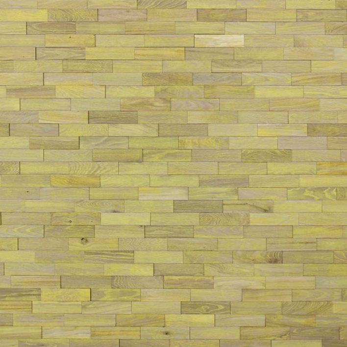 mur en bois jaune