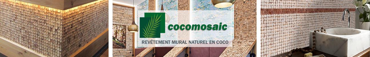 Revetement mural naturel en noix de coco