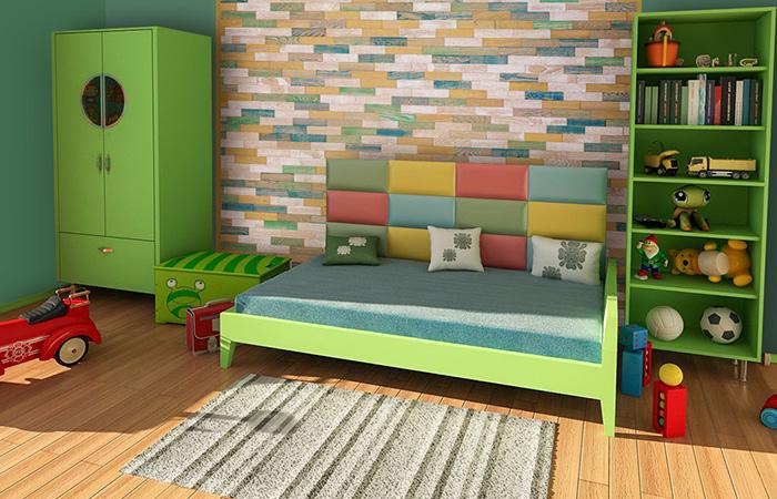 Tête de lit chambre enfant