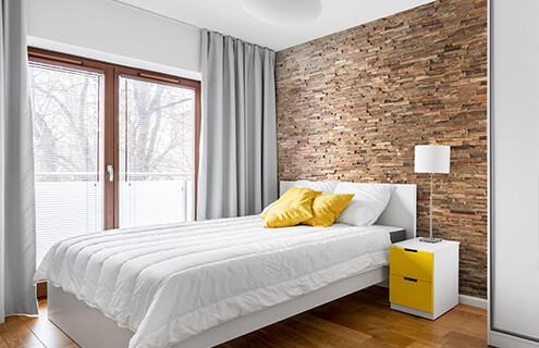 tête de lit parement bois