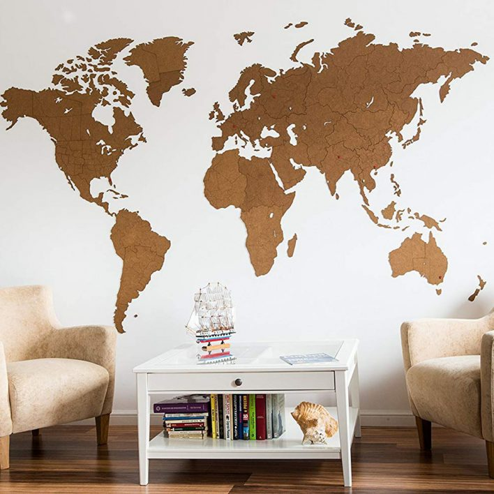 déco carte du monde