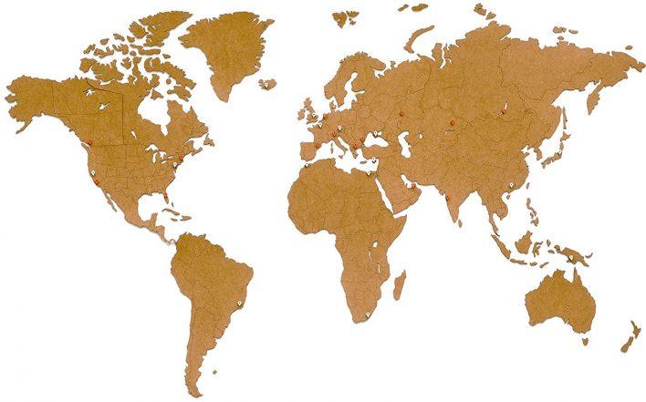 map monde deco