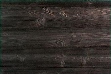 bardage bois brulé brossé
