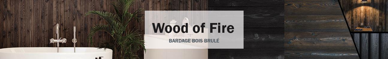 Bardage bois brulé