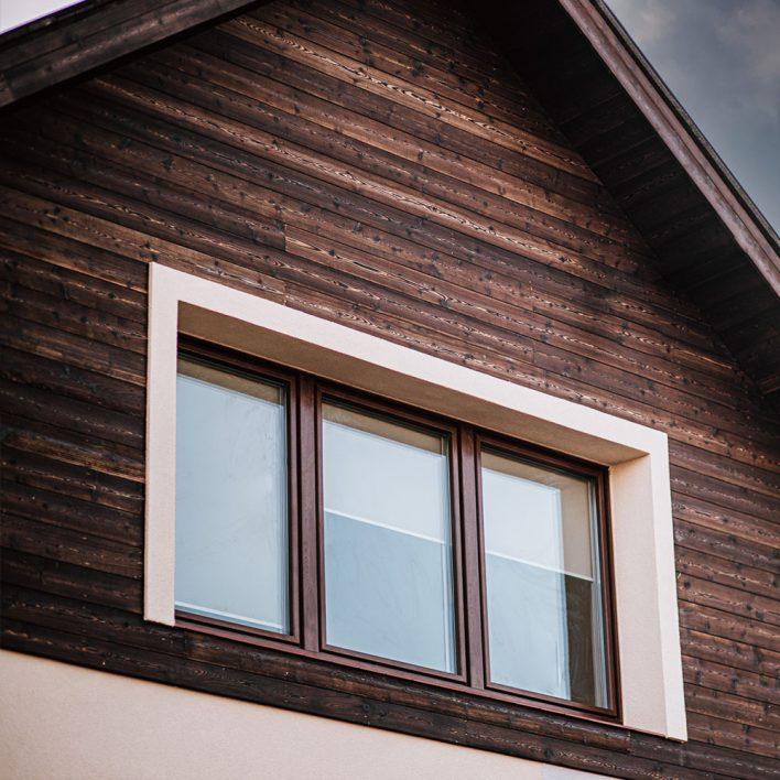 façade bois brulé