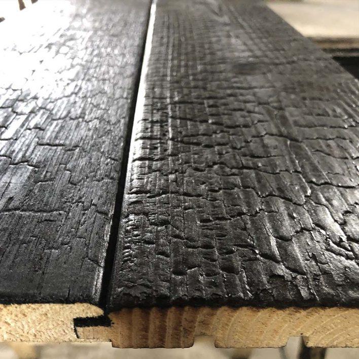 bardage bois brulé fabricant
