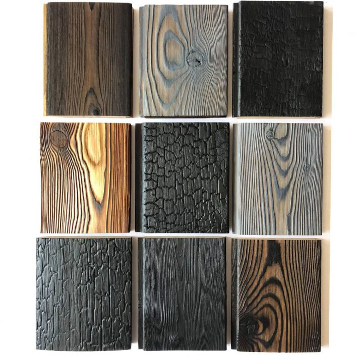 achat bardage bois brulé