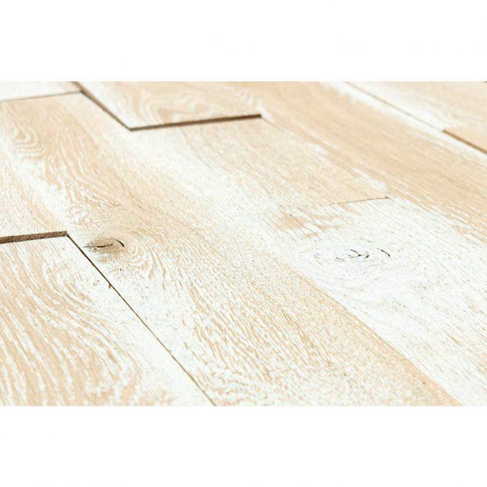 lambris bois teinte blanc