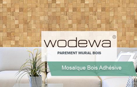 Mosaïque bois adhésive