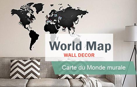 carte du monde deco