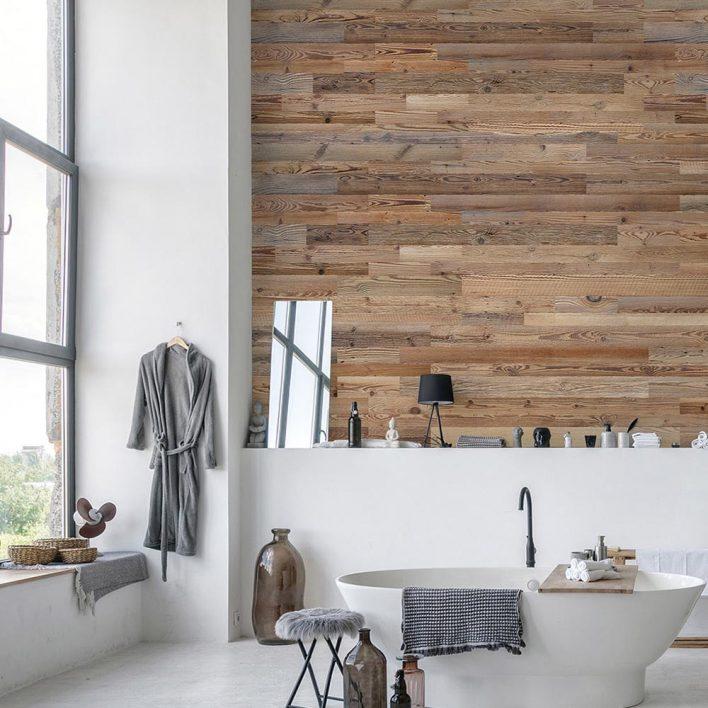 mur planche bois