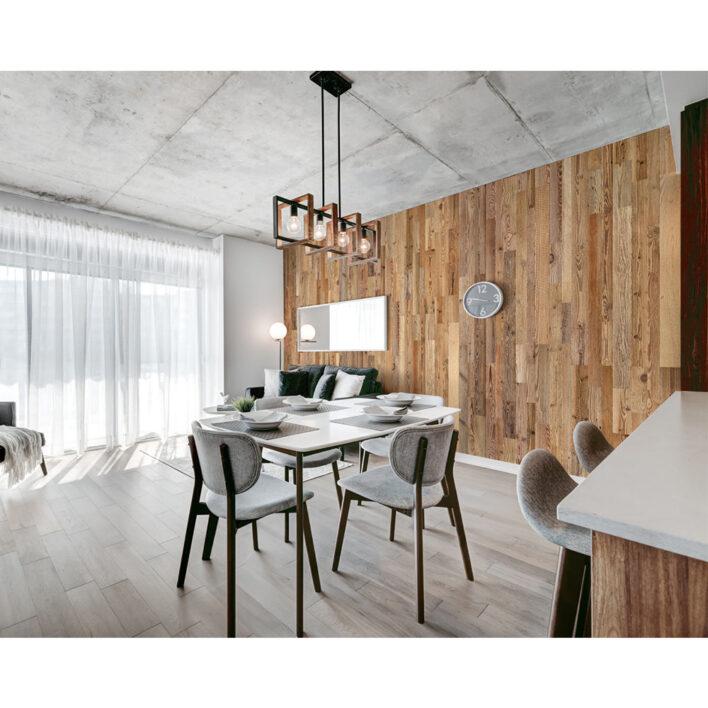 planche bois murale salon