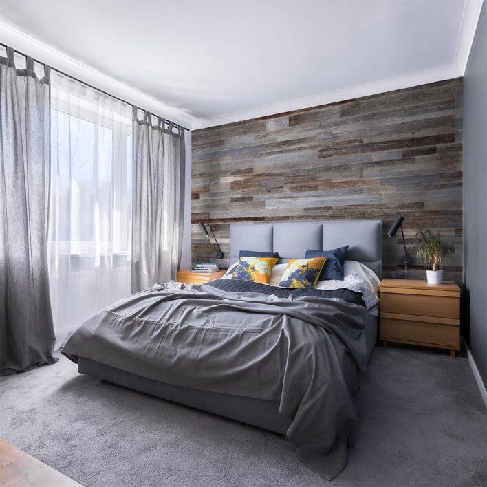 tête de lit en bois de grange décoratif