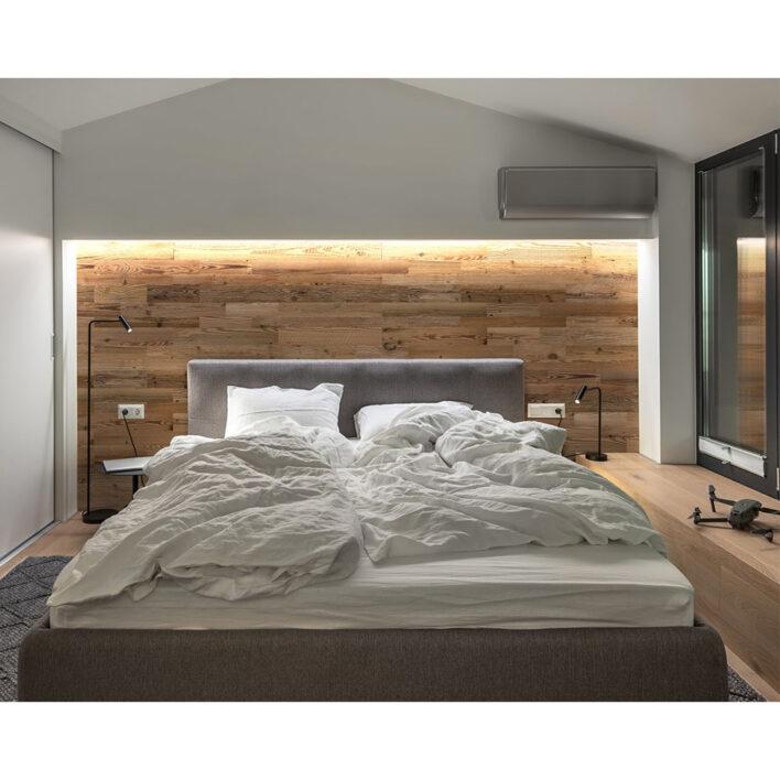 Mur tete de lit en planche