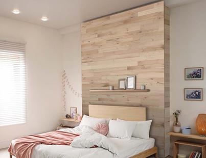 tete de lit bois clair