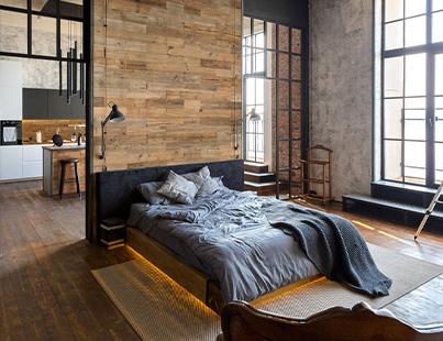 tête de lit planche bois