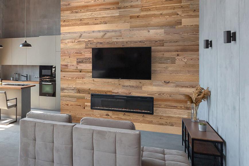 mur tv bois de grange