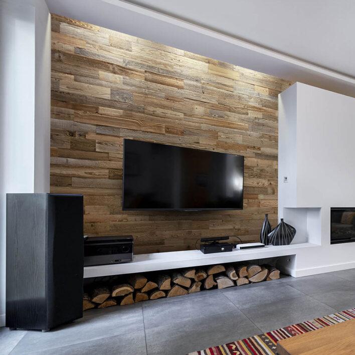 bardage bois mur tv