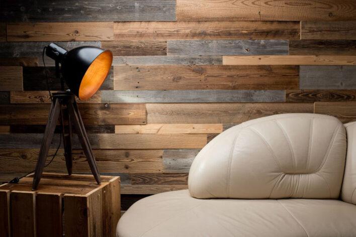 lambris bois brosse interieur