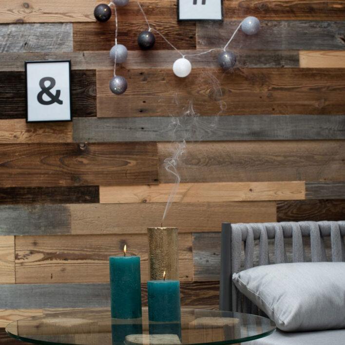 lambris bois interieur recycle