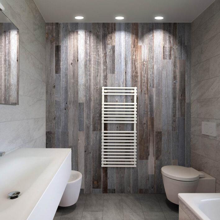 lambris bois vertical salle de-bain