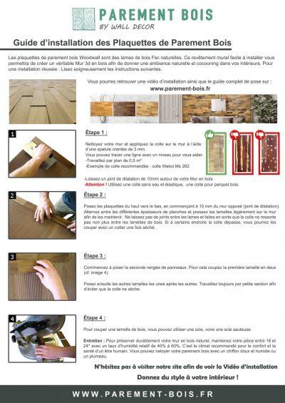 Guide de pose Plaquette Parement Bois