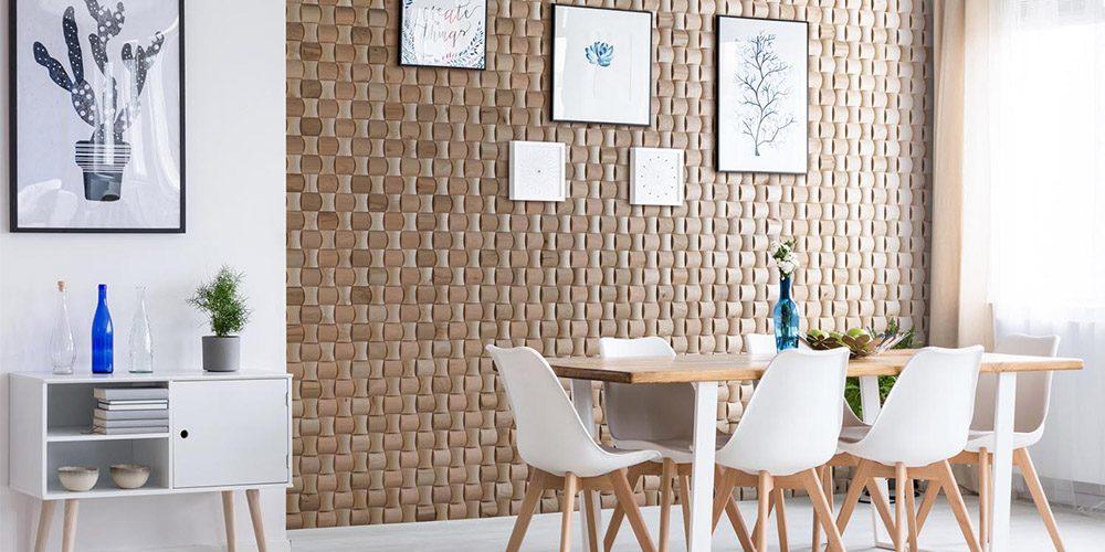 Mur en rondin de bois intérieur
