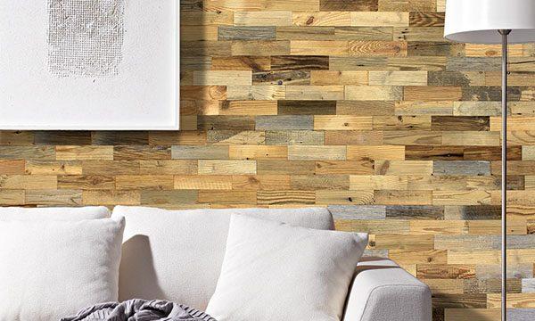 panneau mural bois recycle